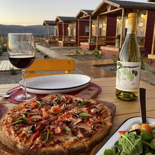 Tres vides - Hoteles Valle de Guadalupe cena