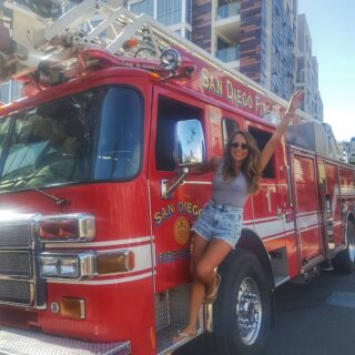 It only takes one spark to light a fire inside you . . . #firetruck #fire #rescue #firefighters #sandiegolife